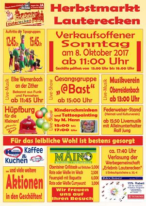 Herbstmarkt 08.10.2017 Programm